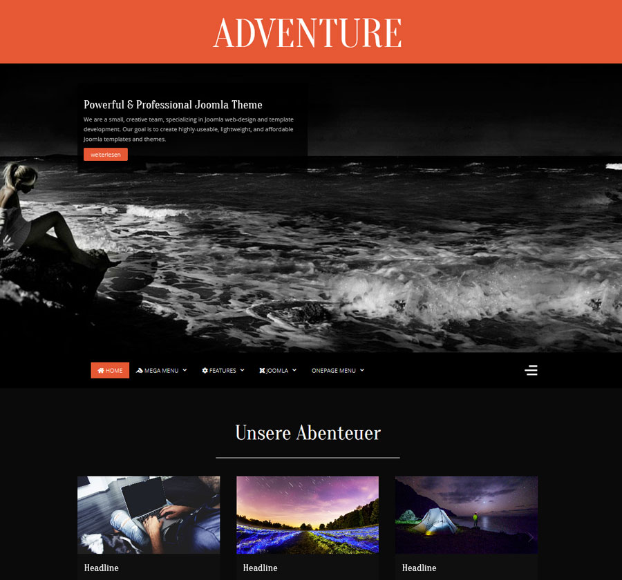 Adventure Joomla Template