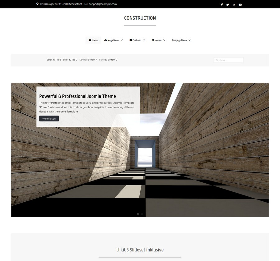 Joomla Template Construction