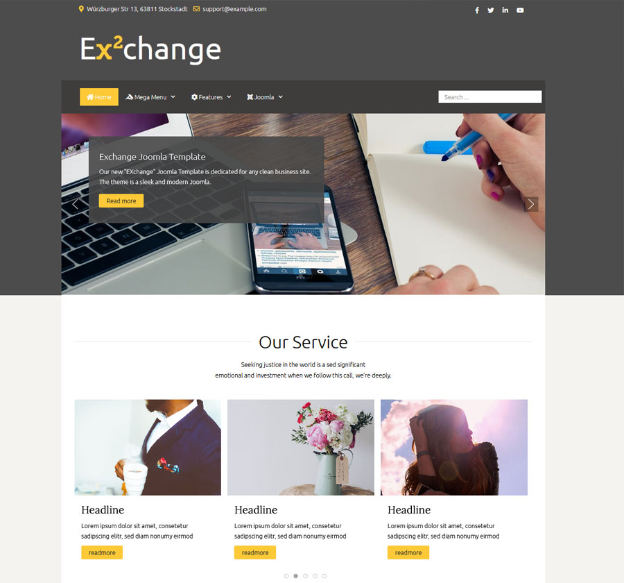 Joomla Template exchange