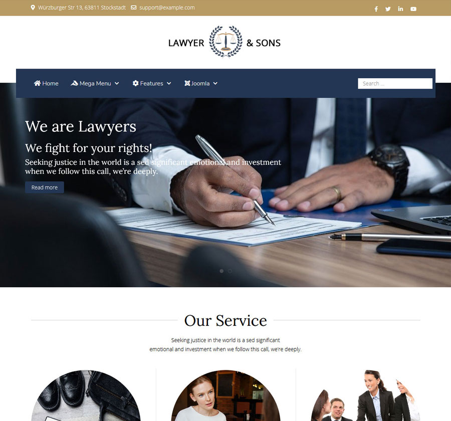 Joomla Template lawyer