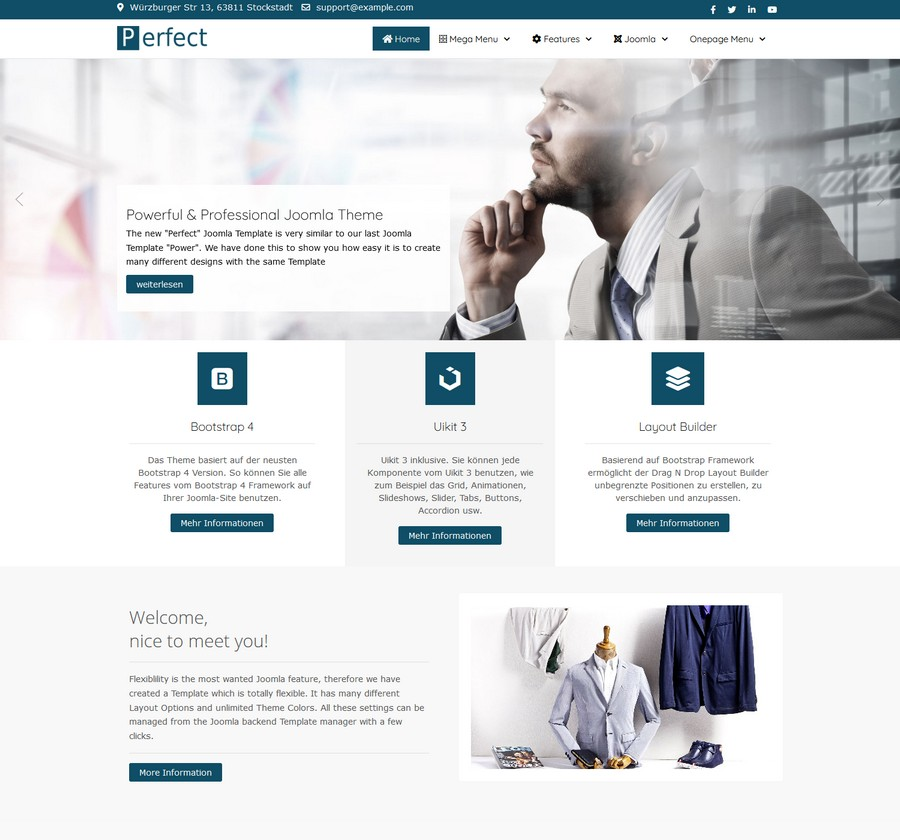 Joomla Template perfect
