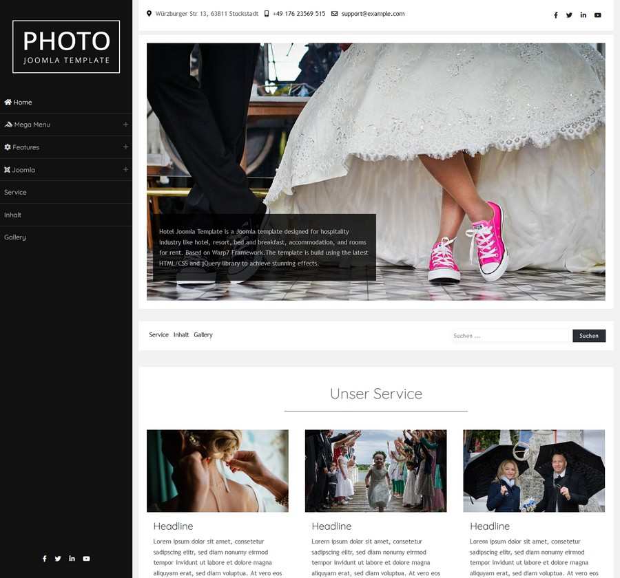Photo Joomla Template