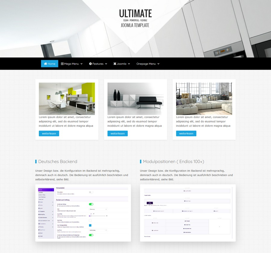 Joomla Template ultimate
